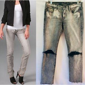 Madewell | Rail straight distressed raw hem jeans